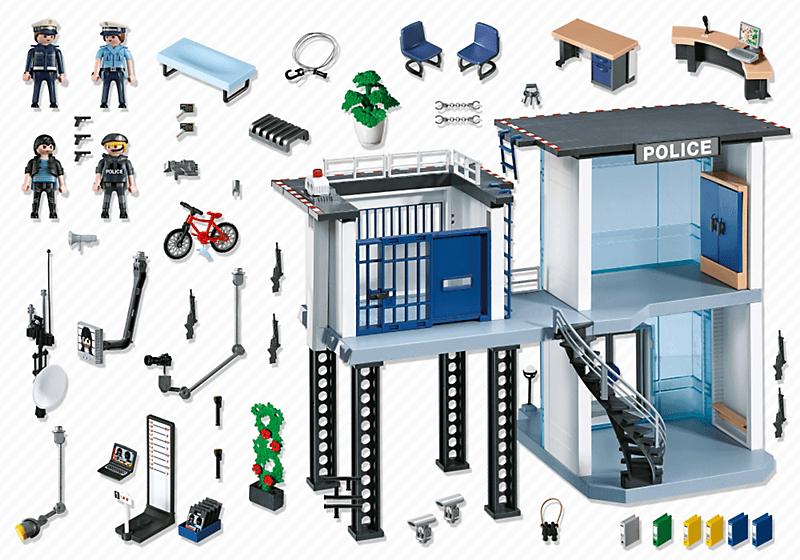 Comisaria de policia playmobil city contenido