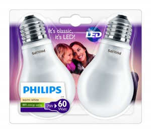 Pack de 2 bombillas LED Philips casquillo E27