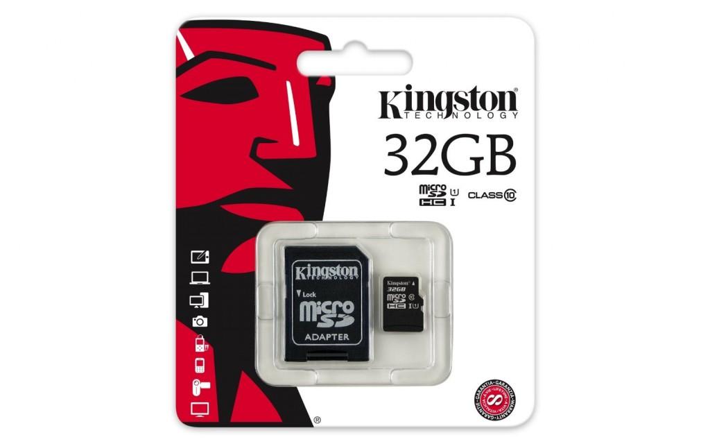 Tarjeta microSD Kingston 32GB clase 10