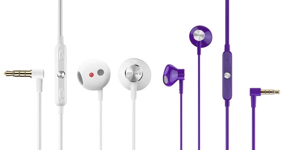 Auriculares Sony STH30 blancos y morados