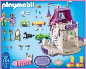 Castillo de cristal Playmobil Princess (5474) contenido