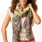 set foulard, cinturón y pulseras rosa