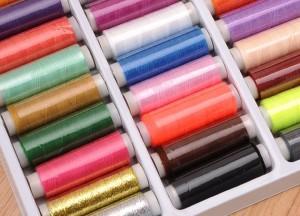 Hilos de coser de poliéster, varios colores y tonos