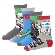 Lote de cuatro pares de calcetines LEGO STAR WARS