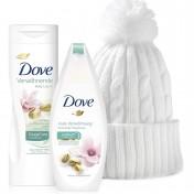 Pack Dove con pistacho y magnolias con gorro acrilico