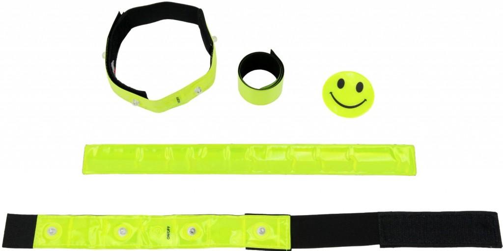 Set de seguridad Ultrasport bandas con led, pulseras y adhesivo