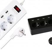 Regleta DBPOWER con 4 tomas y 6 puertos USB