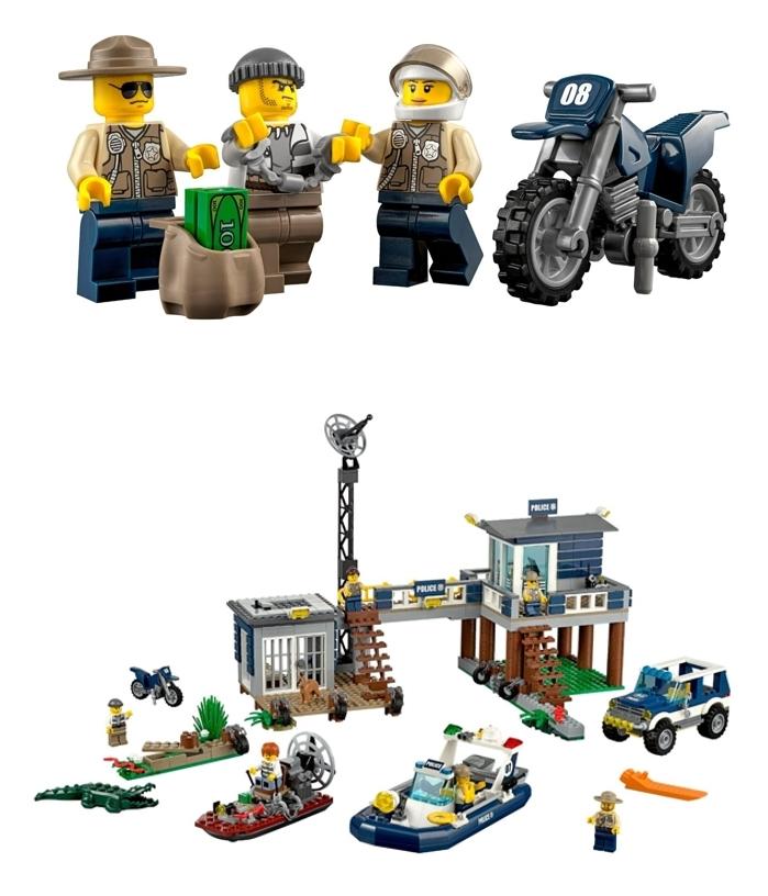 Comisaría policía del Pantano LEGO City 60069