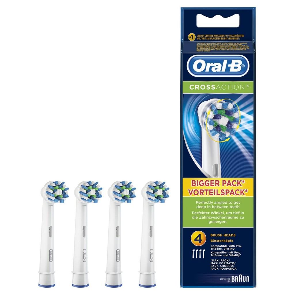 Pack de 4 cabezales de recambio Oral-B CrossAction