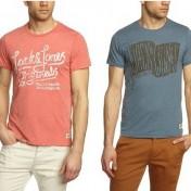 Camiseta Jack & Jones de manga corta en color azul y en color salmón