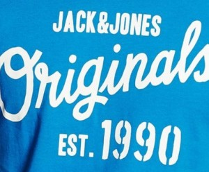Camiseta para hombre Jack & Jones letras frontal