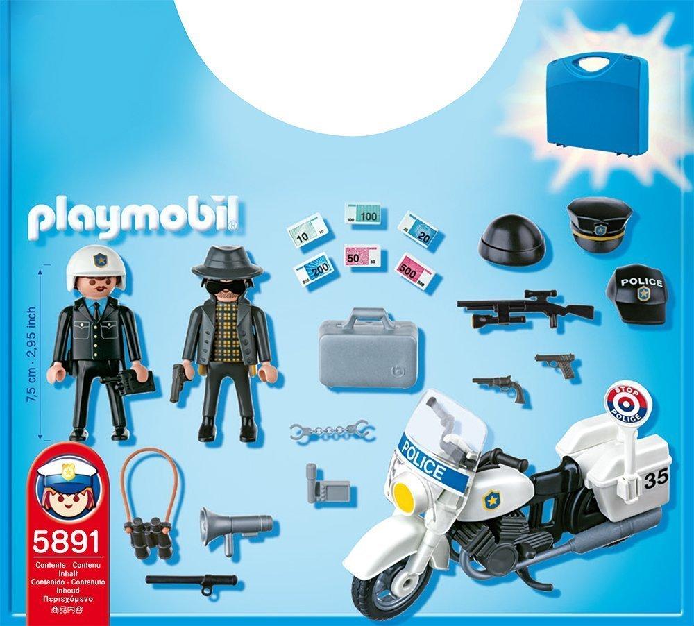 Contenido Maletín policía Playmobil 5891