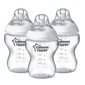 Set de 3 biberones Tommee Tippee Closer to nature Easi-Vent