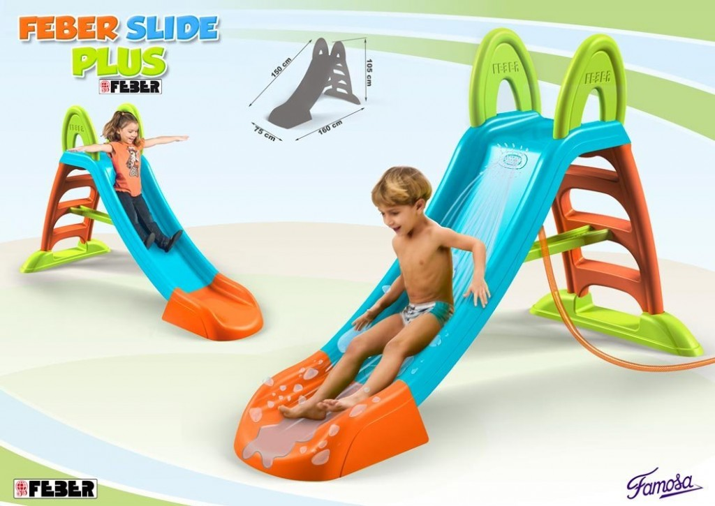 Tobogán con agua Feber Slide Plus