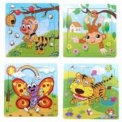 Set de 8 puzzles infantiles de animales Banggood