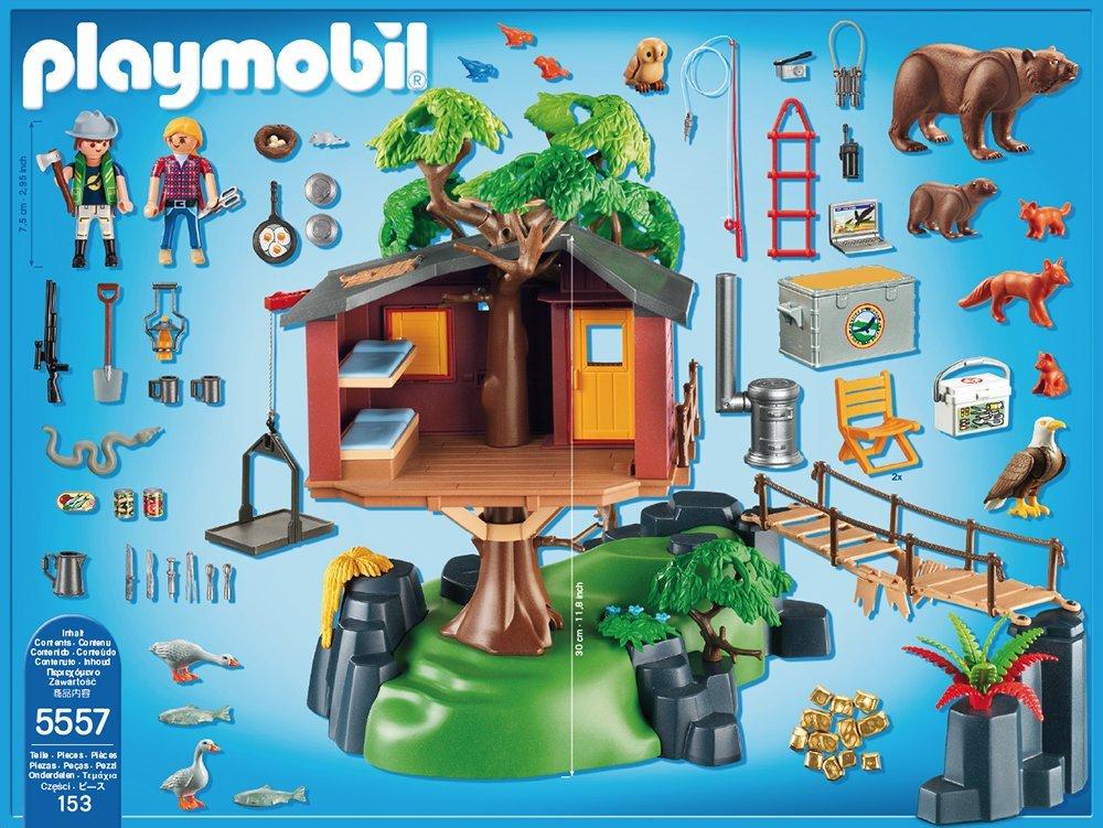 Casa del árbol de aventuras Playmobil (55570) contenido caja