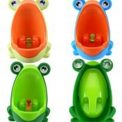 Orinal de pared para niños con forma de rana