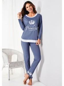 Pijama largo con camiseta estampada