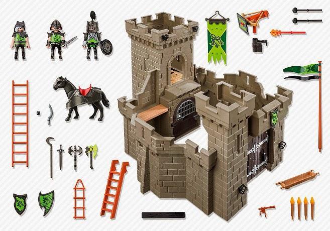 fortaleza-de-los-caballeros-lobo-playmobil-6002-contenido-caja
