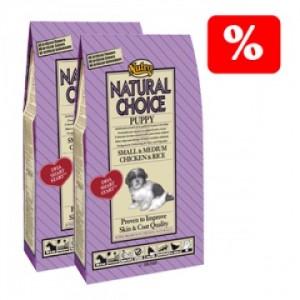 lote-dos-paquetes-de-pienso-nutro-natural-choice-puppy-mini-pollo-y-arroz-2kg