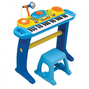 teclado-electronico-con-asiento-bruin-color-azul
