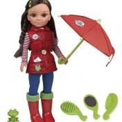 Nancy días de lluvia con accesorios y rana