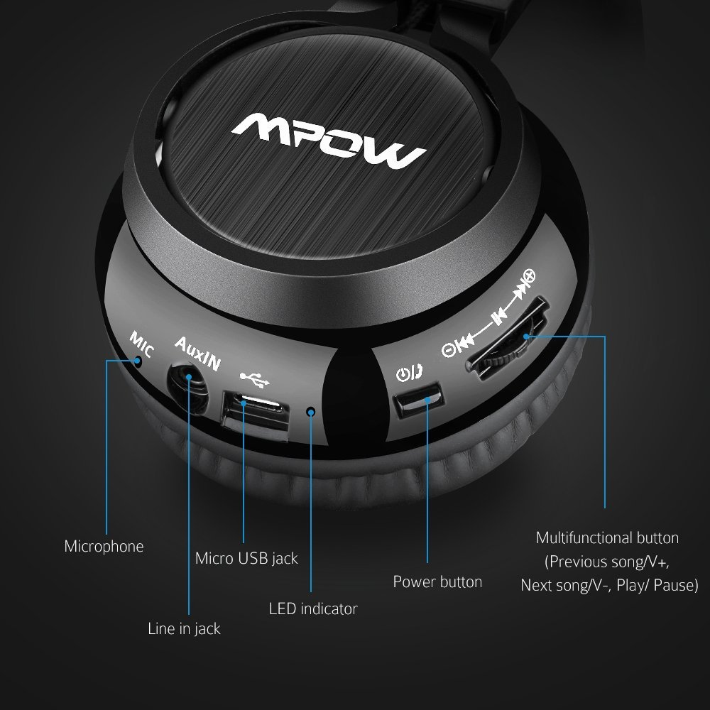 Auriculares Mpow Thor controles