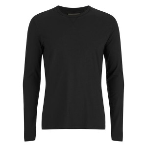 Brave Soul Men's Prague Long Sleeved Top negra