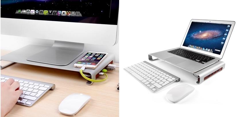 Soporte para monitor Suaoki Z05 con 4 puertos USB