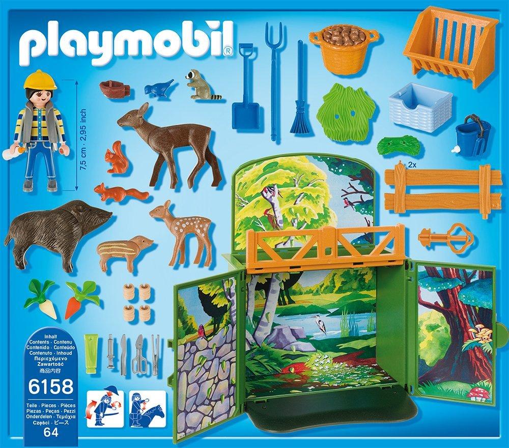 Cofre cuidador animales del bosque Playmobil 6158 contenido caja