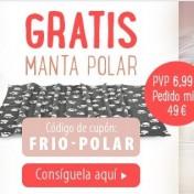 Manta polar gratis con pedido