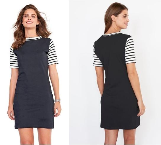 Vestido corto de punto color negro