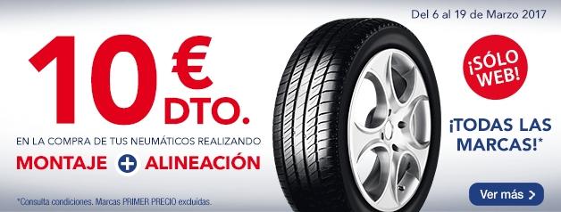 Promoción neumáticos marzo 2017