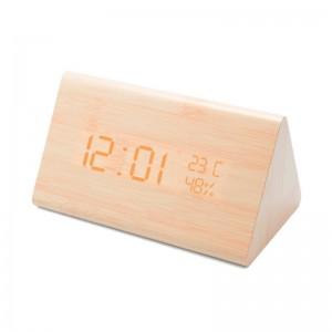 Reloj despertador de madera Unotec