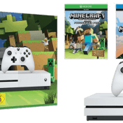 Consola Xbox One S blanca de 500Gb + Pack Minecraft