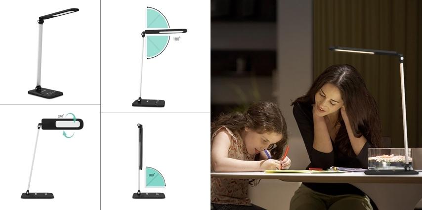 Lámpara escritorio LED Aukey LT-T9