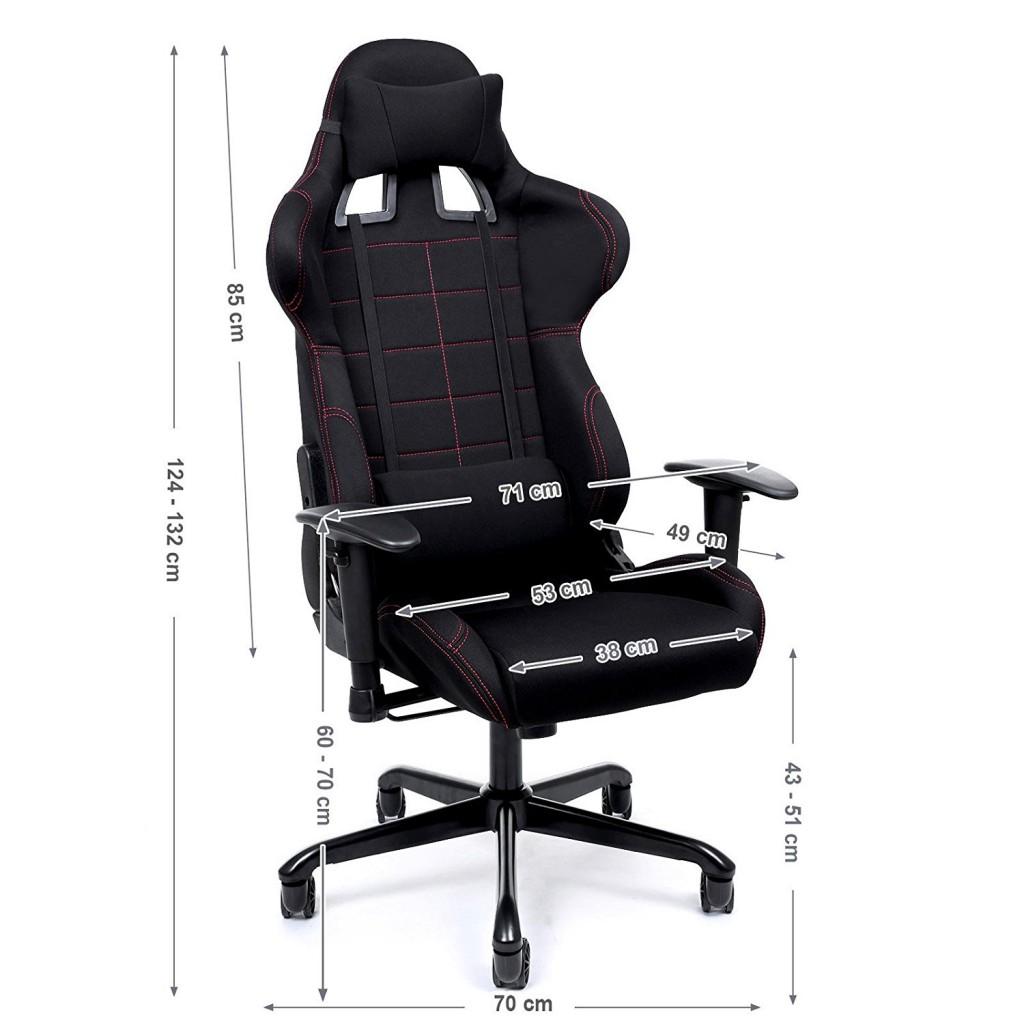 Silla de escritorio con soporte lumbar Songmics Racing RCG001 medidas