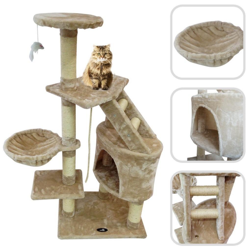 rbol para gato con rascador de sisal natural altura 120cm