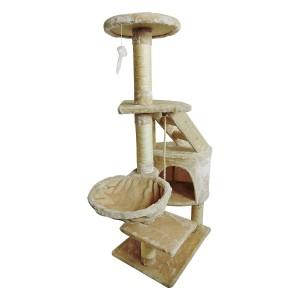 Árbol para gato con rascador de sisal natural