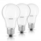 Pack 3 bombillas LED Osram Base Classic A con casquillo E27