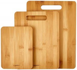 Set de 3 tablas de cortar de bambú AmazonBasics