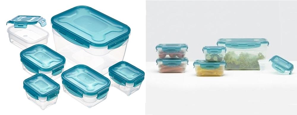 6 recipientes herméticos para alimentos AmazonBasics