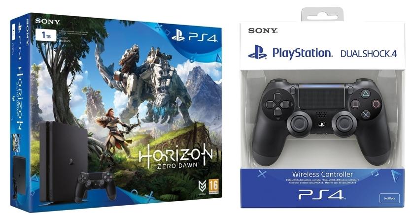 PlayStation 4 de 1TB Horizon Zero Dawn DualShock 4 Negro V2