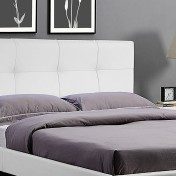 Cabecero de cama Square tapizado en polipiel SUENOSZZZ blanco