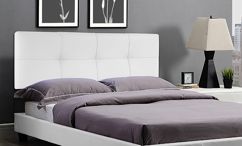 Cabecero de cama square suenoszzz tapizado en polipiel - Cabecero cama blanco ...