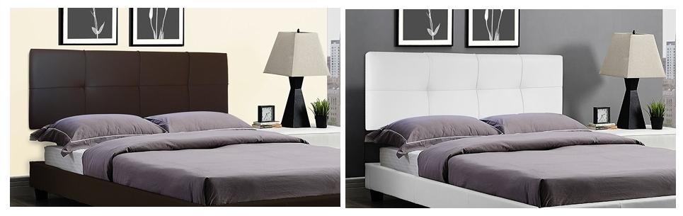 Cabecero de cama square suenoszzz tapizado en polipiel - Cabeceros de cama polipiel ...