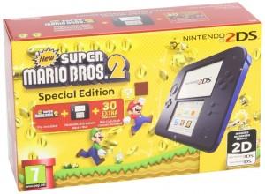 Nintendo 2DS Consola, Color Azul New Super Mario Bros 2