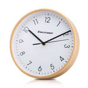 Reloj de pared Excelvan con marco de madera