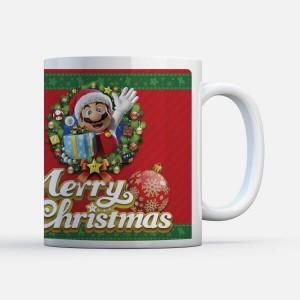 Taza Navidad Nintendo Super Mario Merry Christmas