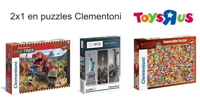 2x1 en puzzles Clementoni en Toys R Us